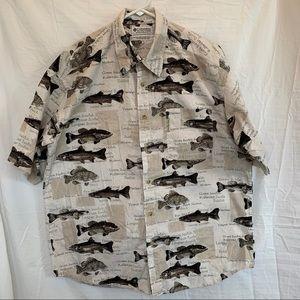 Columbia Sportswear Mens Fish Shirt XL